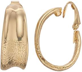 Dana Buchman Textured Clip-On Hoop Earrings