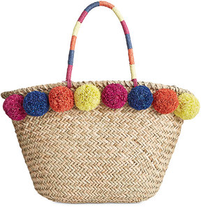 Inc International Concepts Livie Pom Straw Tote, Created for Macy's