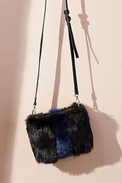 Anthropologie Striped Faux Fur Crossbody Bag