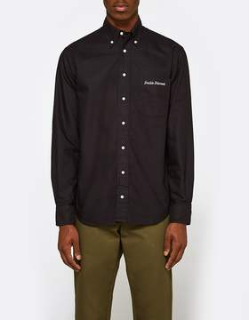 Gitman Brothers Overdye Oxford Shirt in Black