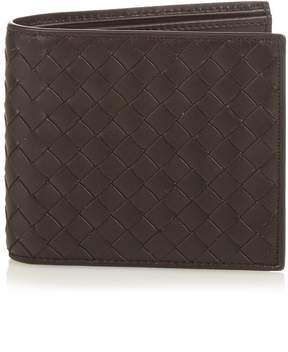 Bottega Veneta Bi-fold intrecciato leather wallet