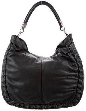 Saint Laurent Leather Roady Hobo - BLACK - STYLE