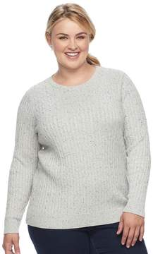 Croft & Barrow Plus Size Cable Knit Sweater