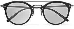 Oliver Peoples Remick Round-Frame Acetate And Gunmetal-Tone Sunglasses