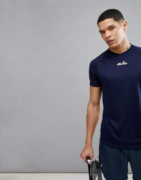 Ellesse Tennis T-Shirt With Small Logo In Navy
