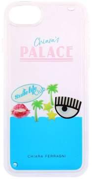 Chiara Ferragni Case Iphone 8 Case Chiara's Palace Rubber Case With Maxi Eye And Liquid In Movement
