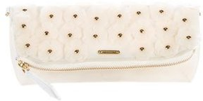 Burberry The Petal Floral Rubber Clutch - WHITE - STYLE