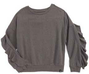 Treasure & Bond Girl's Ruffle Sweatshirt