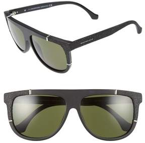 Balenciaga Women's 58Mm Flat Top Sunglasses - Matte Black/ Green Lenses