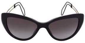 Miu Miu Cat Eye Sunglasses Smu12rs Usn3e2 55   Purple Frame   Gray Gradient Lenses.