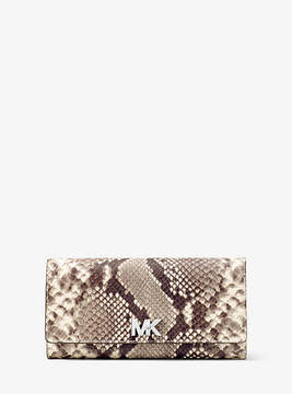 Michael Kors Mott Embossed-Leather Wallet - NATURAL - STYLE