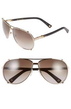 Christian Dior Women's Chicago2 STRASS/S SUT/HA Gold/Brown Pilot Sunglasses 63mm
