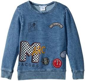 Little Marc Jacobs MTV Style Badges Long Sleeve Sweatshirt Boy's Sweatshirt