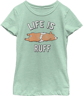 Fifth Sun Mint 'Life Is Ruff' Crewneck Tee - Girls