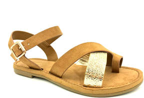 Bamboo Tan Fate Sandal - Women
