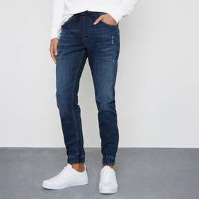 River Island Mens Dark blue wash Ryan jogger jeans