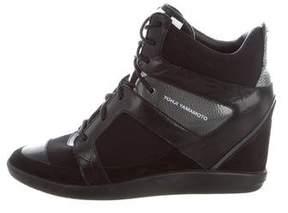 Yohji Yamamoto High-Top Wedge Sneakers