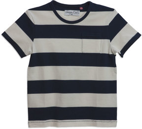 Sovereign Code Jakov Striped Short-Sleeve Tee, Cream, Size 4-6x