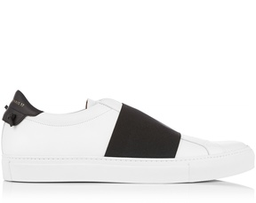GIVENCHY Elastic-strap low-top leather trainers