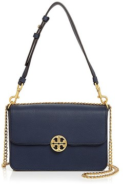 Tory Burch Chelsea Leather Convertible Shoulder Bag - NEW IVORY/GOLD - STYLE