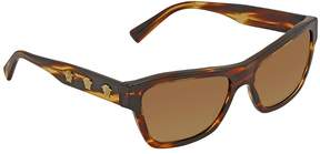 Versace Brown Gradient Rectangular Sunglasses VE4344 502513