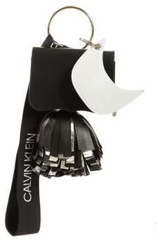 Calvin Klein Optional Charms Leather Shoulder Bag