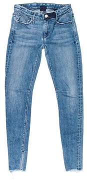 RtA Denim Low-Rise Skinny Jeans