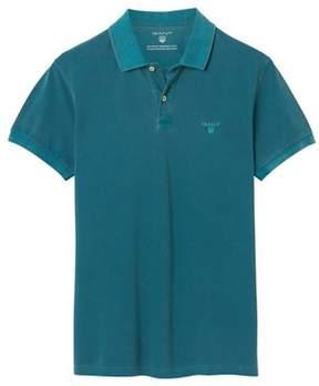 Gant Men's Green Cotton Polo Shirt.