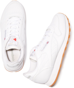 Reebok Classic Leather Sneaker in White, Size 6