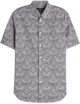 Alexander McQueen Printed Cotton Short Sleeved Shirt