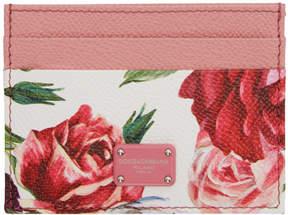 Dolce & Gabbana Pink Peonies Card Holder
