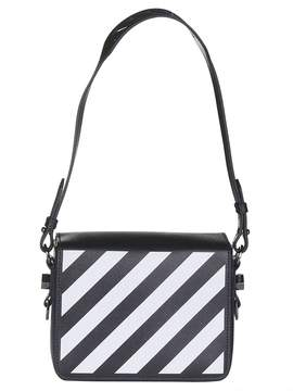 Off-White Off White Diagonal Striped Shoulder Bag