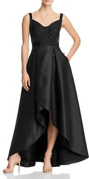 Adrianna Papell Lace-Inset Ball Gown
