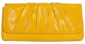 Lauren Merkin Yellow Embossed Clutch