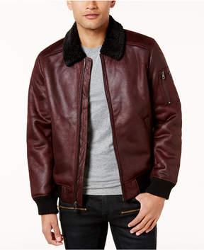 GUESS Men's Redmond Faux-Suede Bomber Jacket