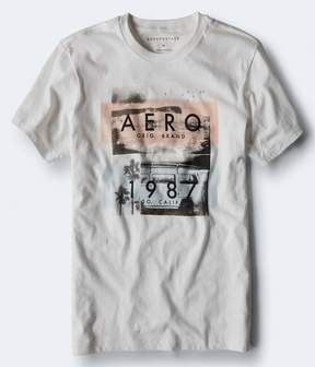 Aeropostale Aero 1987 Beach Graphic Tee