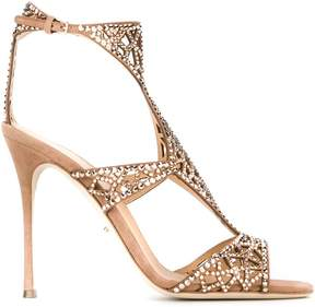 Sergio Rossi embellished cut-out sandals