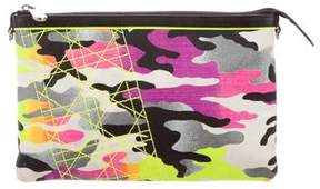 Christian Dior Anselm Reyle Camouflage Clutch