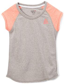Reebok Papaya Punch Colorblock Tri-Blend Tee - Toddler & Girls