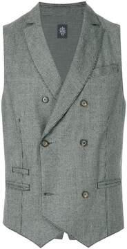 Eleventy houndstooth check waistcoat