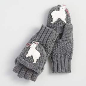 World Market Gray Convertible Llama Gloves