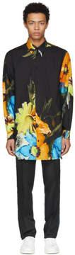 MSGM Black Floral Painted Shirt