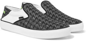 Vetements Collapsible-Heel Checkerboard Canvas Slip-On Sneakers