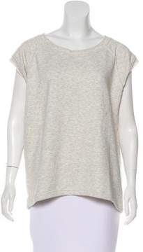 Anine Bing Scoop Neck Short Sleeve Sweatshirt