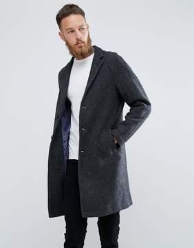 MANGO Man Wool Overcoat In Gray