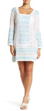 Letarte Embroidered Tunic Dress