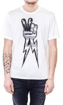 Neil Barrett Peace Sign Print T-shirt