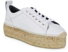 McQ Leather Flatform Espadrille Sneakers