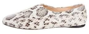 Reed Krakoff Snakeskin Round-Toe Loafers