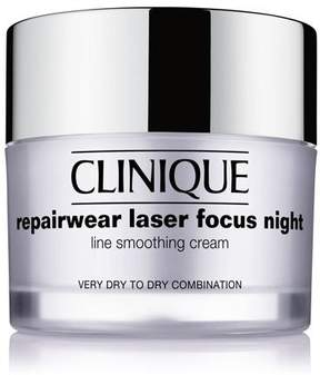 Clinique Repairwear Laser Focus Night Line Smoothing Cream - Very Dry to Dry Combination, 1.7 oz.